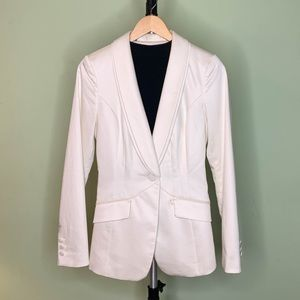 Guess Off White Suit Blazer